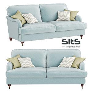 3D howard sofa sits