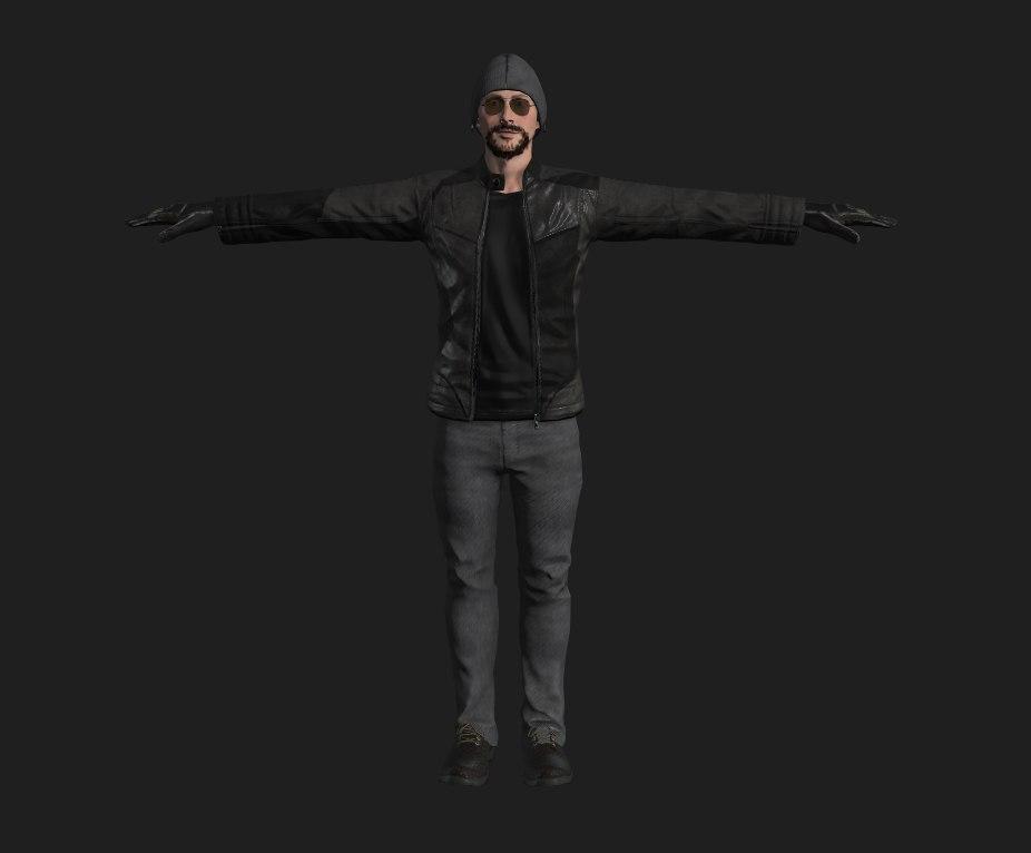looking man 3D model