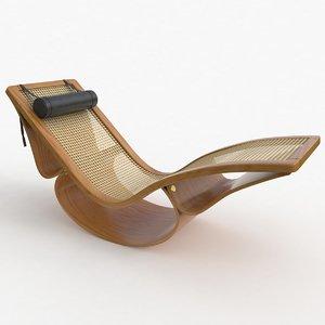 3D rio chaise lounge teak