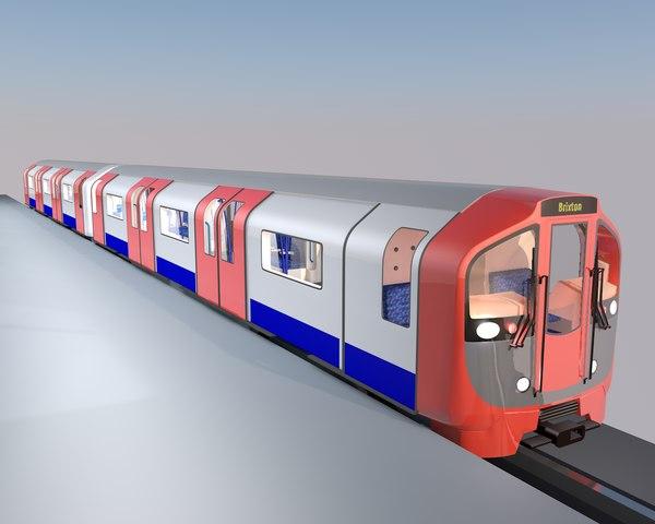 3D london victoria line metro train