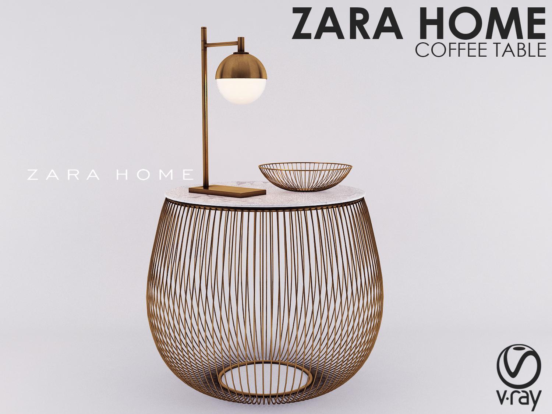 Zara Home Coffee Table 3d Model Turbosquid 1282311