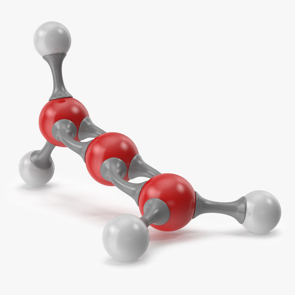 3D model propadiene molecular
