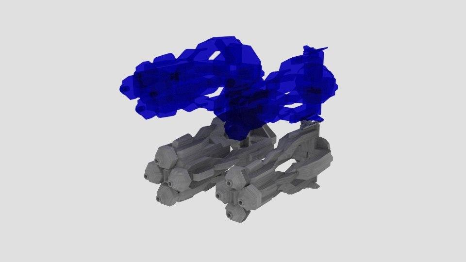 3D hologun holo gun model