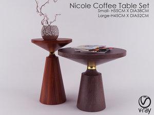 nicole coffee table set 3D model