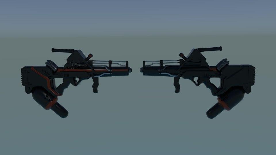 alien wta gun 3D model