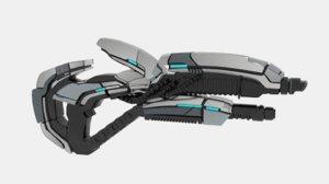 3D me2 gun geth plasma
