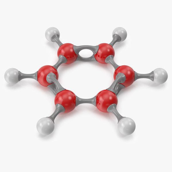 3D model benzene molecular