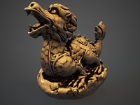 chinese dragon netsuke model