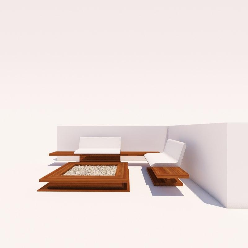 corner setting outdoor 3D model