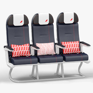 economy seat air france 3D