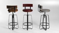3D gozi bar chair model