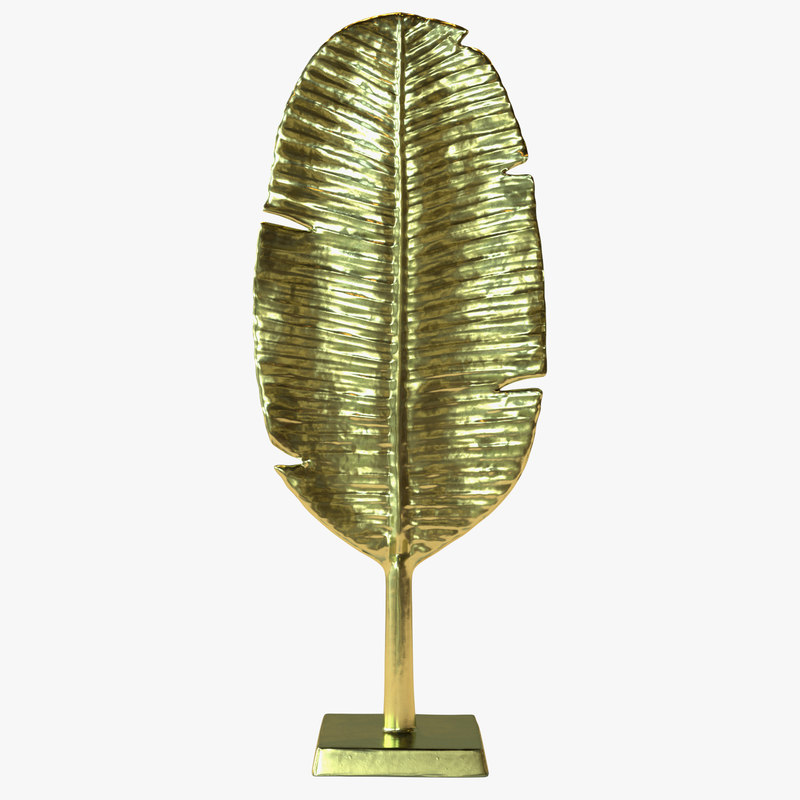 gold leaf sculpture 3D model