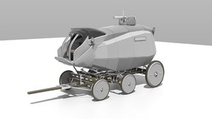 3D carriage armoured model