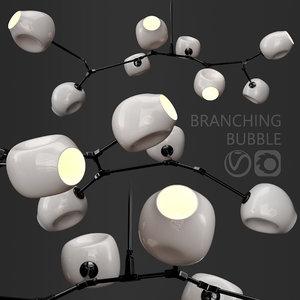 branching bubble 8 lamps 3D
