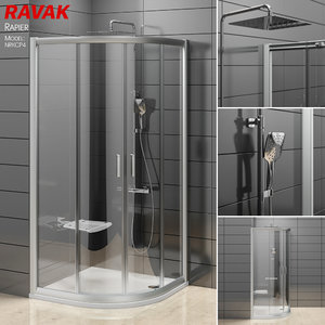 semicircular shower enclosures ravak 3D model