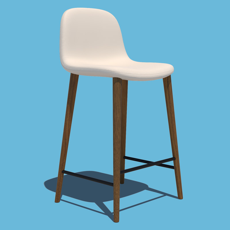 3D model bar stool chair seat