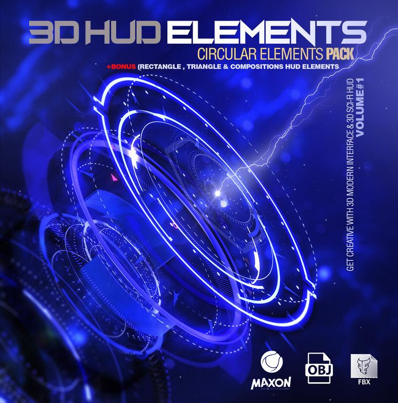 sci-fi hud elements bonus model