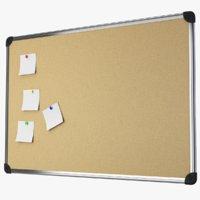 3D aluminum frame pinboard