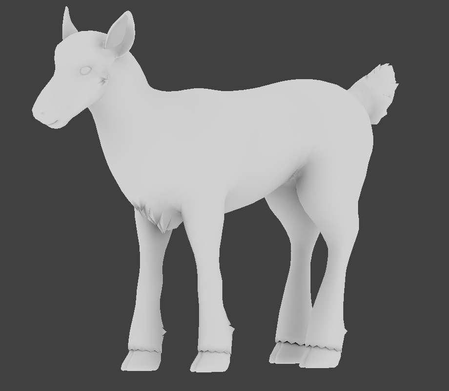 3D unrigged deer uv model