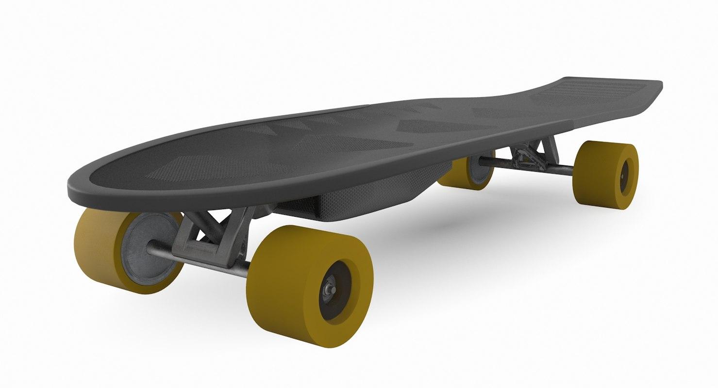 3D electric skateboard model  TurboSquid 1282454