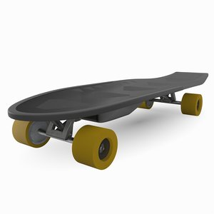3D electric skateboard model