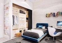 photo realistic bedroom scene 3D model