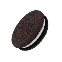 3D realistic oreo cookie food