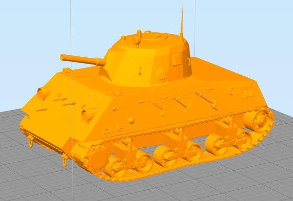 3D dl43 nahuel printable tank model