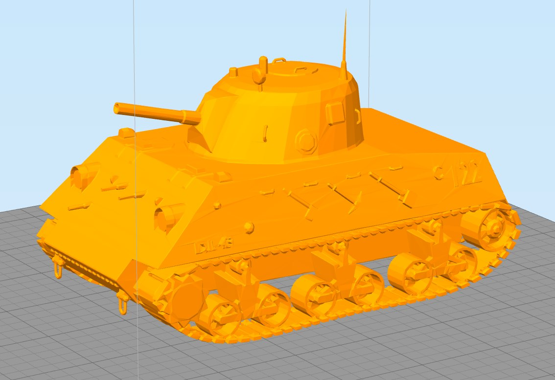3D dl43 nahuel printable tank model