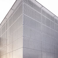 architectural perforated metal 3D