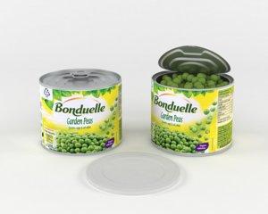 bonduelle green peas 3D model
