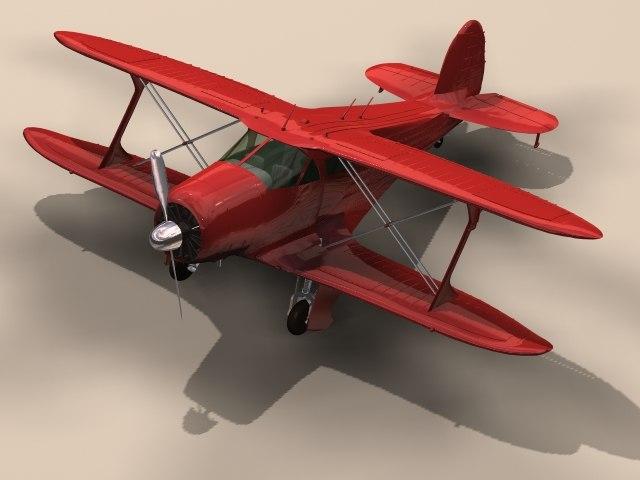 3D beechcraft 17 staggerwing -