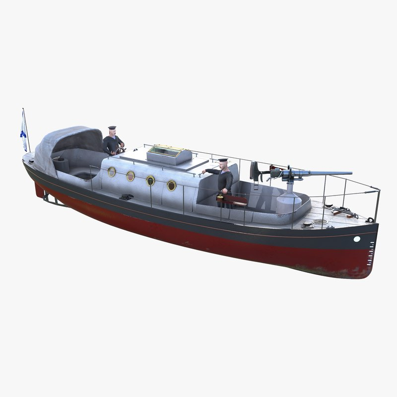 boat gun 3D model