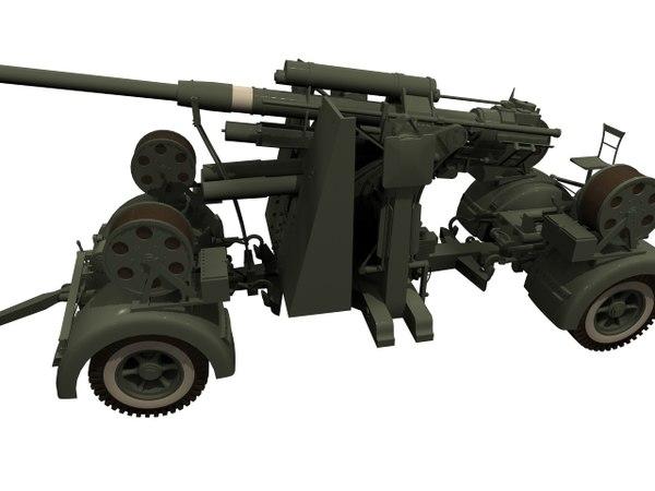german flak limbers 3D