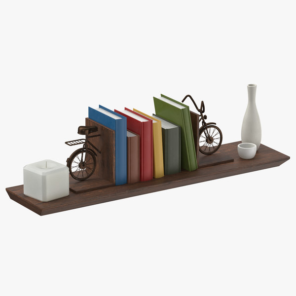 3D shelving decor set 03