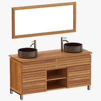 3D contemporary vanity model