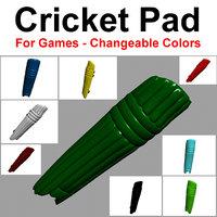 3D cricket pad