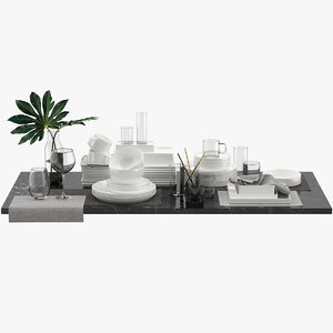 table tableware 3D