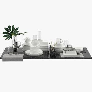 table tableware 3D