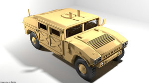 3D model armoured car humvee
