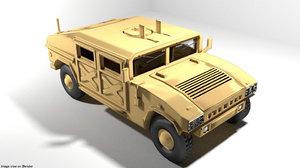 3D model armoured car humvee