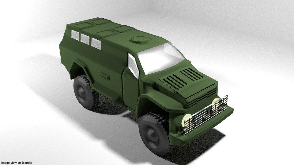 3D armoured car win
