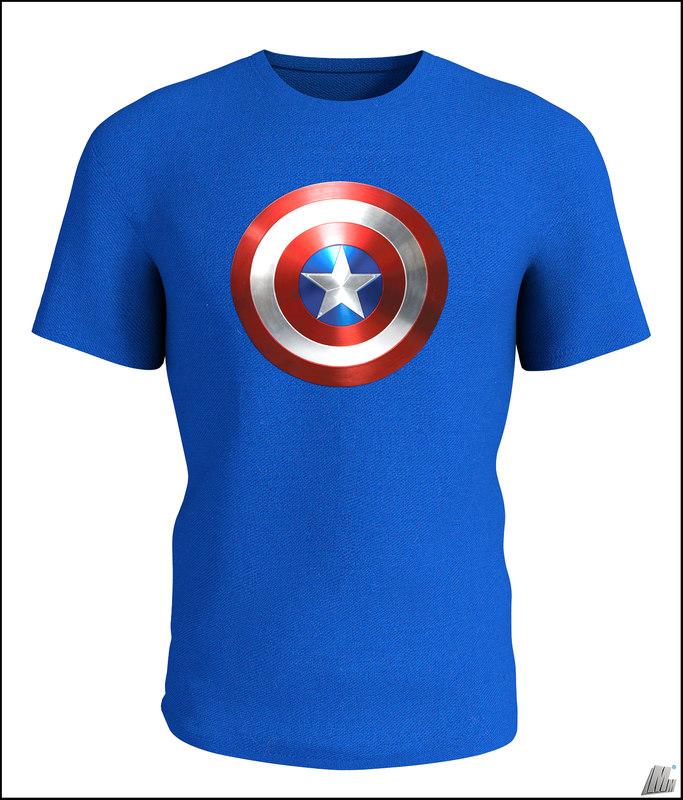 3D t-shirt shirt captain model