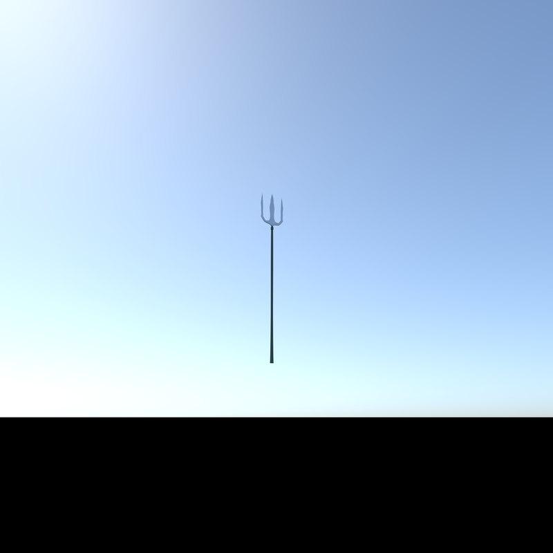 god shiva weapon trishool 3D model