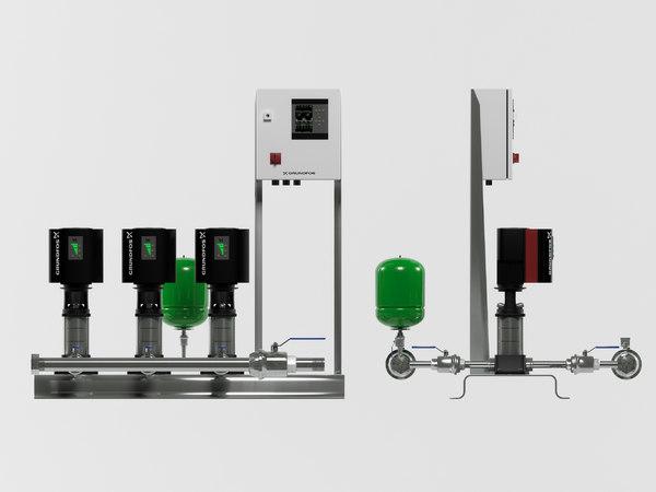 3D grundfos pump station hydro