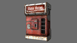 cold drink dispenser machine 3D model