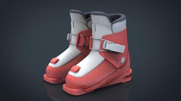3D kid ski boots