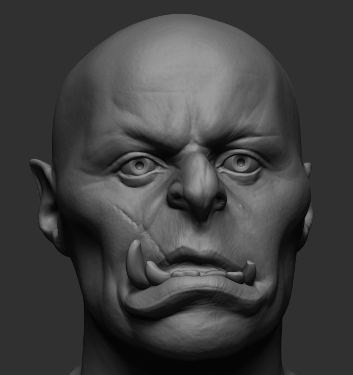 creature head reference 3D model
