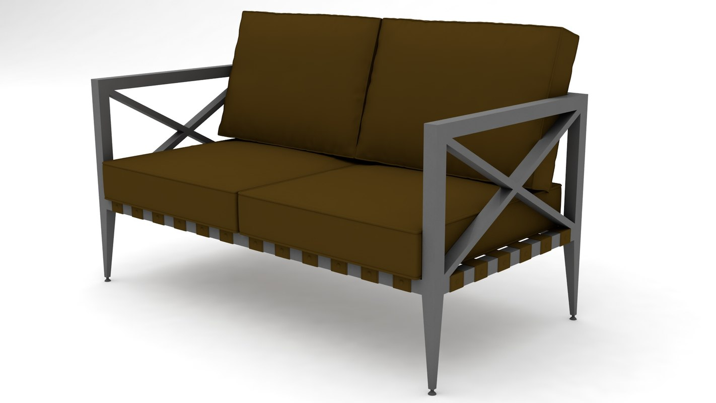 couch sofas settee 3D