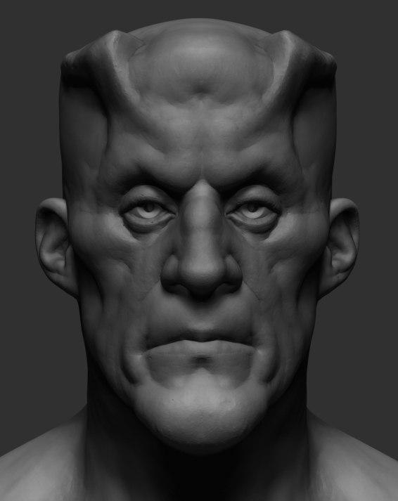 3D creature ztl zbrush model